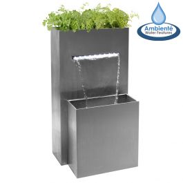 H89cm Berkeley Small Rectangular Planter Waterfall Cascade With LED Lights by Ambienté™
