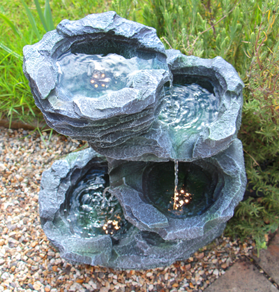Trevell Rock Cascade Water Feature with Lights by Ambienté™