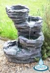 Trevell Rock Cascade Water Feature with Lights by Ambienté