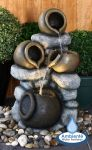 Oden Jugs & Rock Cascade Water Feature with Lights by Ambienté