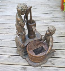 Boy and Girl Pump Solar Water Fountain