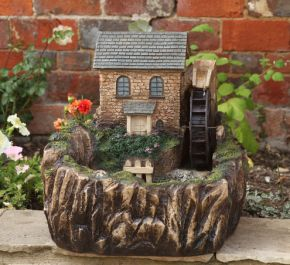 H51cm Water Mill Solar Powered Resin Water Feature