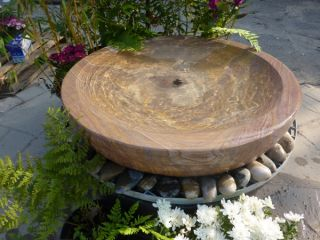 Large Rainbow Babbling Bowl Water Feature
