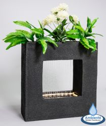 56cm Milano Rain Water Feature with Planter and Lights by Ambienté™