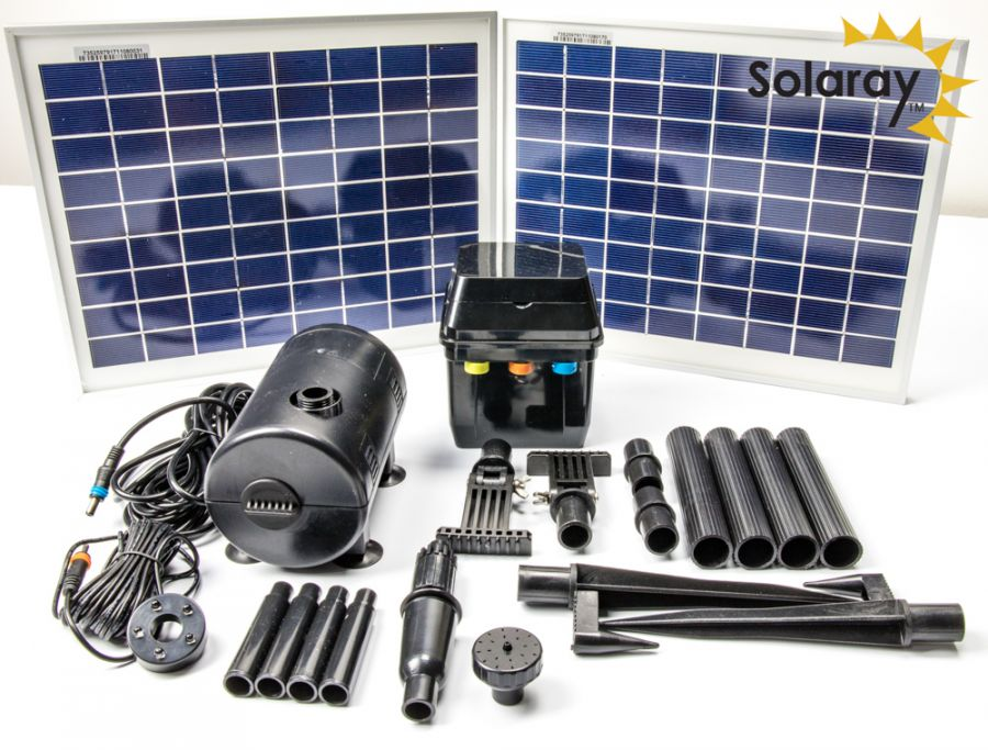 1,200LPH Solar Water Pump Kit with LED Lights by Solaray™