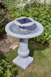 H70cm Chatsworth Solar Powered Fountain Bird Bath
