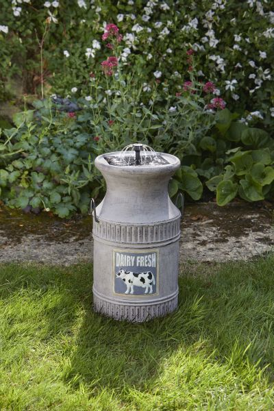 Smart Garden - Solar Powered Milk Churn Fountain