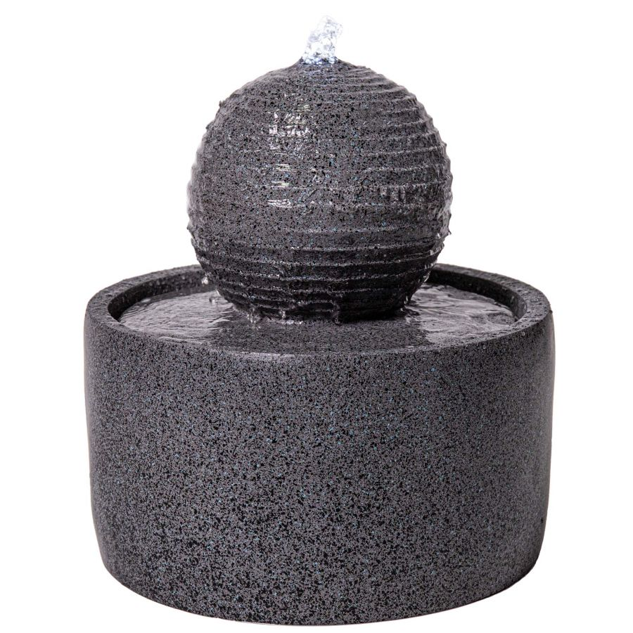 H41cm Padova Polyresin Sphere Water Feature with Lights