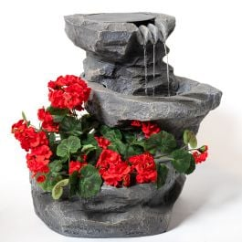 48cm Dornie Solar Water Feature with Planter by Solaray™