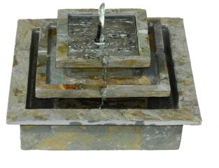 Slate Stepped Solar Fountain Water Feature