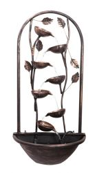 75cm Cascading Leaf - Wall Mounted Water Feature