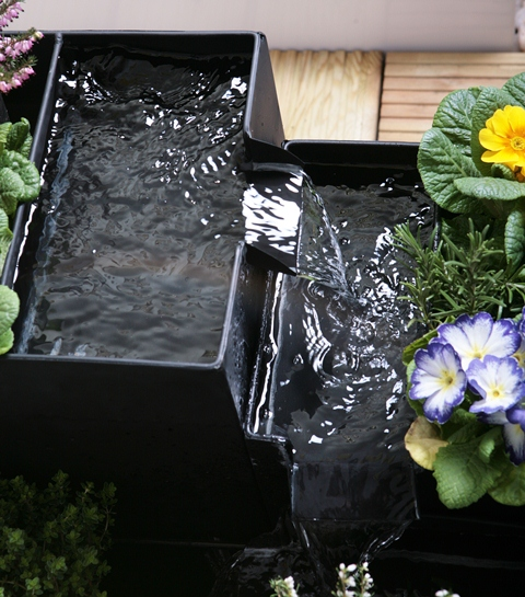 Daintree Planter Cascade Water Feature - Black