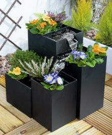 49cm Daintree Planter Cascade Water Feature - Black