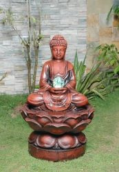Large Buddha (Crystal Ball) Water Feature With LED light