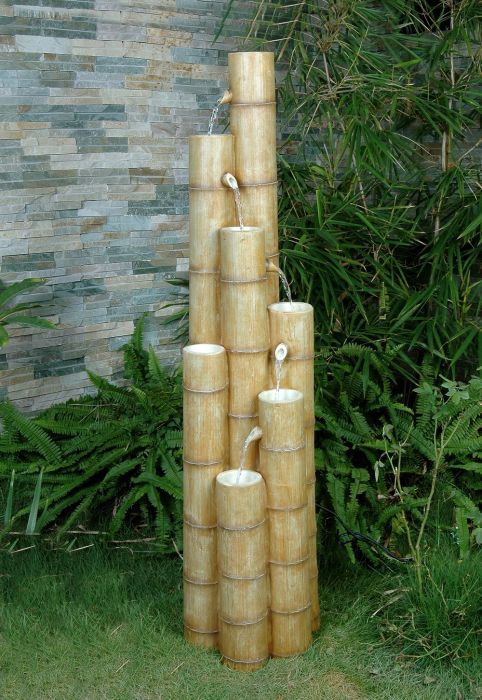 Large Bamboo Poles Water Feature