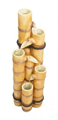 88cm White Ginko 5-Tier Bamboo Water Feature by Ambienté™