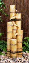 H88cm Ginko 5-Tier Bamboo Water Feature by Ambienté