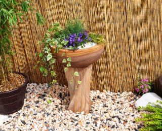 63cm Indian Rainbow Sandstone Bird Bath