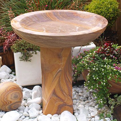 62.5cm Indian Rainbow Sandstone Large Bird Bath