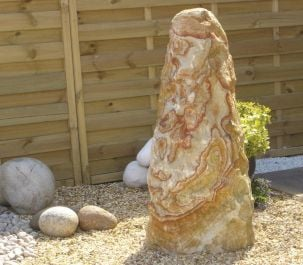 Rainbow Sandstone Monolith Water Feature with Kit