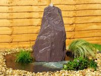 1ft Drilled Slate Monolith Water Feature with Kit