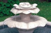 Water Blossom Double Stone Fountain