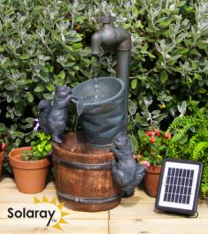 H72cm Buckets and Tap Solar Water Feature by Solaray