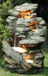 Woodland Cascade Water Feature with LED Lights