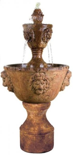 Henri Studios Leonesco Two Tier Fountain