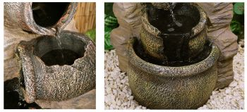 Cherika Cascading Oil Jars Water Feature - H77cm