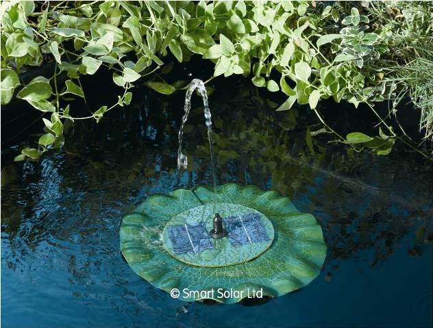 Smart Solar Floating Lily Water Feature