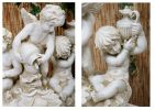 Triple Cherubs Resin Water Feature - H110cm