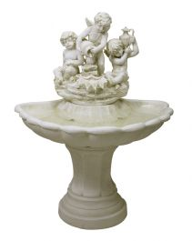 H110cm Triple Cherubs Resin Water Feature by Ambienté™