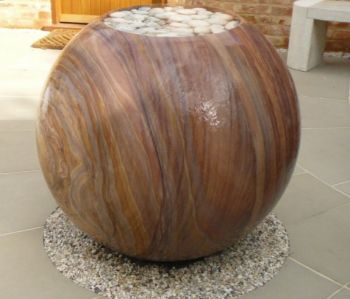 Foras Bliss Sandstone Sphere Water Feature - 60cm
