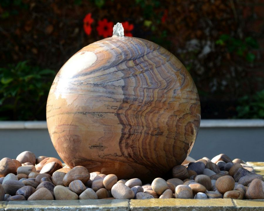 Foras Belmont 40cm Sphere Pebble Pool Water Feature Kit