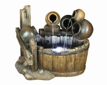 Somerset Pots Resin Stone Water Feature with LED Lights H65cm