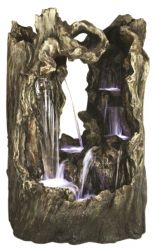 Great Amazon Falls Resin Stone Water Feature with LED Lights H2.03m