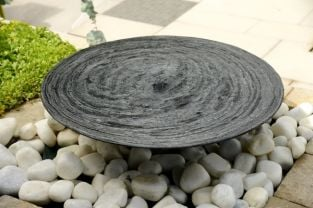 Foras 75cm Slate Bowl and Sandstone Pebble Pool Water Feature Kit