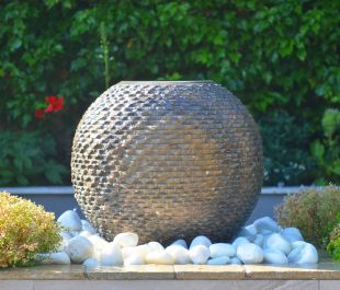 Foras Inca 50cm Sandstone Sphere Water Feature