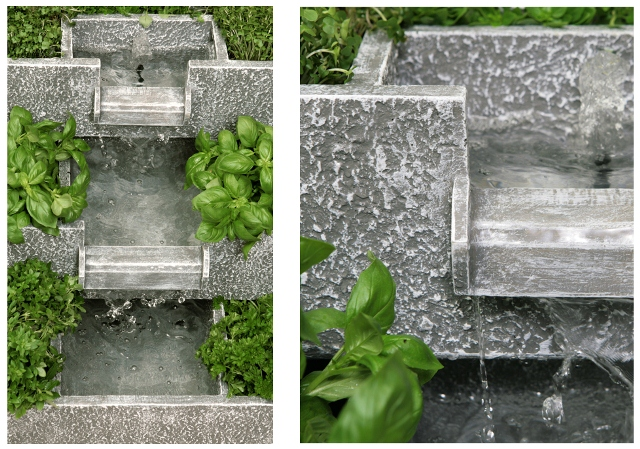 3 tier solar cascade water feature and planter. Black Bedroom Furniture Sets. Home Design Ideas