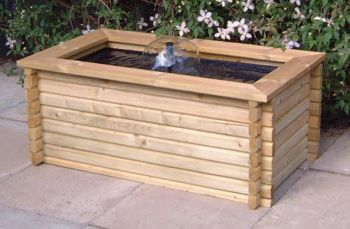 The Luna 80 Gallon Rectangular Water Feature Pool