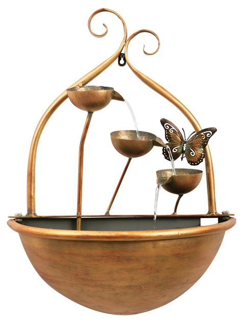 Butterfly wall mounted water feature - Wall mounted water feature ...