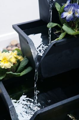 Wheaton Planter Cascading Water Feature - Black