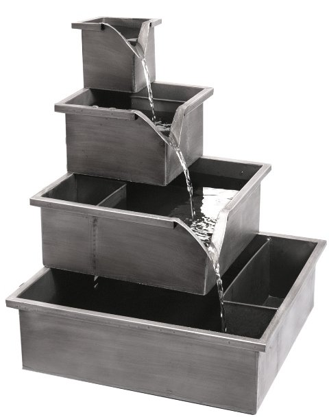 49cm Wheaton Planter Cascading Water Feature - Silver