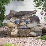 Otter Log Stream Water Feature with LED Lights