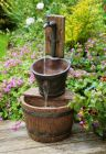 Iron Tap Bucket and Barrel Cascade Water Feature