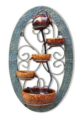 Tortoise Shell Wall Mounted Cascade Water Feature