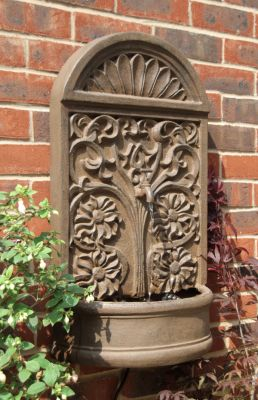 Arbury Wall Mounted Rust Effect Fountain Water Feature By