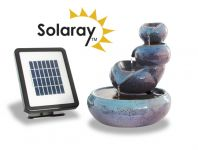 Cosmos Solar Ceramic Oil Jar Three Tier Cascade Water Feature by Solaray™