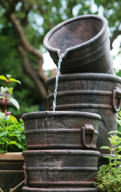 Bucket Rise Water Feature and Planter by Ambienté™